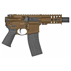 "CMMG Banshee 300 Mk4 .22 Long Rifle Semi Auto Pistol 4.5"" Barrel 25 Rounds RML4 M-LOK Hand Guard KAK Slim Flash Can Cerakote Midnight Bronze"
