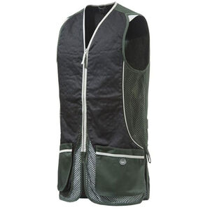 Beretta USA New Silver Pigeon Shooting Vest Cotton and Mesh Panels Easy-Glide Shooting Patches X-Large Hunter Green/Black