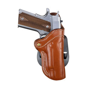 1791 Gunleather Optics Ready Open Top Multi-Fit OWB Paddle Holster for Full Size 1911 Semi Auto Models Right Hand Draw Leather Classic Brown