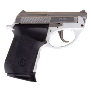 """Taurus 22 Poly .22 Long Rifle Semi Auto Pistol 2.80"""" Barrel 8 Rounds Integrated Fixed Sights Matte Stainless Steel Slide Polymer White Frame"""