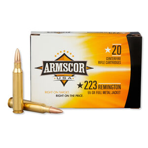 Armscor USA .223 Remington Ammunition 55 Grain FMJ 3050 fps