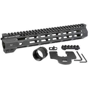 "Midwest Industries AR-15 Combat 11.50"" One Piece Free Float M-LOK Hand Guard 6061 Aluminum Hard Coat Anodized Matte Black"