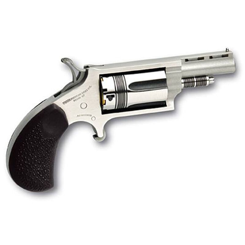 """NAA Wasp Revolver .22 Magnum 1.63"""" Barrel 5 Rounds Rubber Grips Stainless Finish"""
