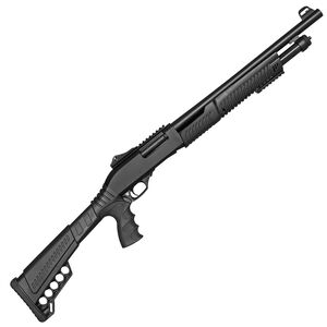 """SDS Imports SLB SX3 12 Gauge Pump Action Shotgun 18.5"""" Barrel 3"""" Chamber 5 Rounds F/O Front Ghost Ring Rear Sights Synthetic Pistol Grip Stock Black Finish"""
