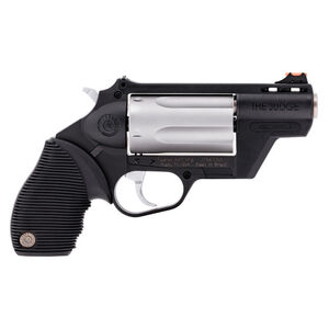 """Taurus Judge Public Defender Double Action Revolver .45 Long Colt/.410 Bore 2.5"""" Chamber 2"""" Barrel 5 Round Fixed Red Fiber Optic Front Sight/Adjustable Rear Sight Ribbed Rubber Grip Polymer Frame Black Finish"""