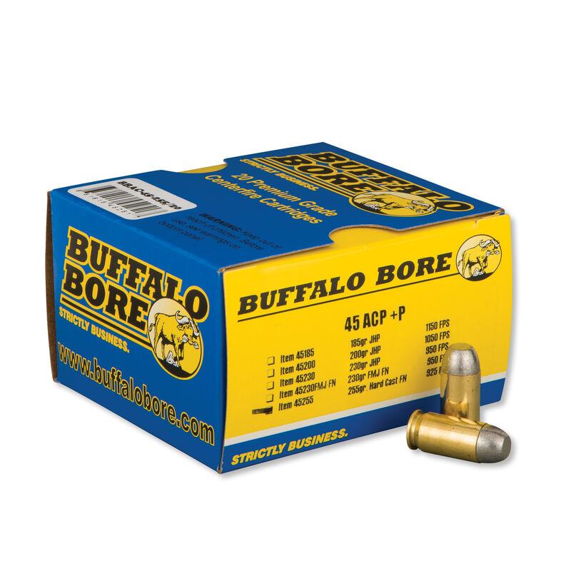 Buffalo Bore Outdoorsman .45 ACP +P Ammunition 20 Rounds Lead HCFN 255 Grains 45-255/20