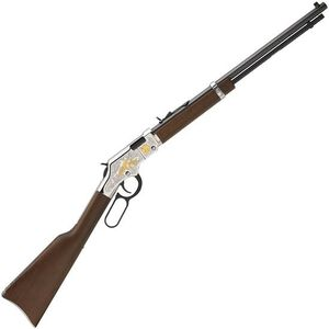 "Henry Second Amendment Tribute Edition Lever Action Rimfire Rifle .22 LR/L/S 20"" Barrel 16 Rounds Engraved Nickel Receiver Walnut Stock Blued Finish"