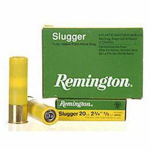 "Remington Slugger 20 Gauge Ammunition 2-3/4"" Rifled Slug 5/8 Oz 5 Rds"