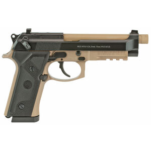 "Beretta M9A3 9mm Semi Auto Pistol 5"" Threaded Barrel 17 Rounds Night Sights Type F Black Slide with FDE Frame and Barrel"