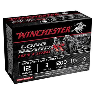 "Winchester Long Beard XR 12 Ga 3"" #6 Lead 1.75oz 10 rds"