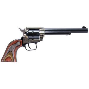 """Heritage Rough Rider Revolver Single Action Army 22LR And 22WMR 6.5"""" Barrel Alloy Color Case Hardened Camo Grips 6 Round Fired Case Right Hand 33.4oz Fixed Sights 22MCH6"""