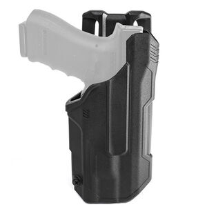 BLACKHAWK! T-Series Level 2 TLR 1 And 2 Light Bearing Duty Holster For GLOCK 17/22 Right Hand Polymer Black