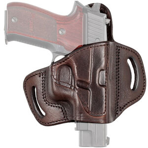 Tagua Gunleather TX1836 Fort GLOCK 17/22/19/23 and Similar Belt Slide Holster Right Hand Leather Brown