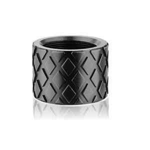 Backup Tactical 1/2x28 Thread Protector Aluminum Hash Marks Black