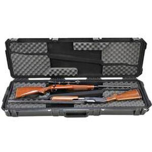 "SKB Sports iSeries 5014 Double Rifle Hard Case 50"" Waterproof with Padlock Holes Polymer Black 3I-5014-DR"