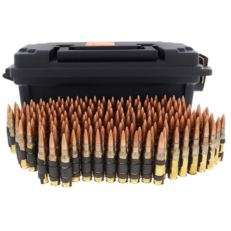 HSM .30-06 Springfield Ammunition 200 Rounds 150 Grain Full Metal Jacket/Tracer M1 Linked Ammo Polymer Ammo Container