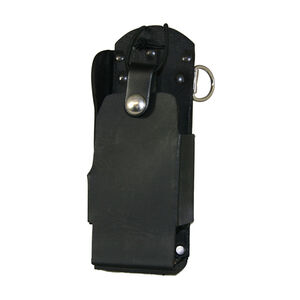 Boston Leather 5480 Radio Holder Motorola 1500 2500 5000 D-Ring No Windo Leather Plain Black 5480RCNW-1