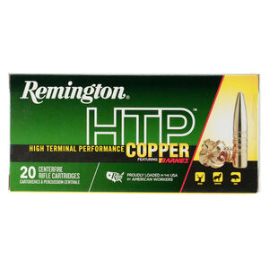 Remington HTP Copper 300 Winchester Magnum Ammunition 20 Rounds 180 Grain Barnes TSX Boat Tail