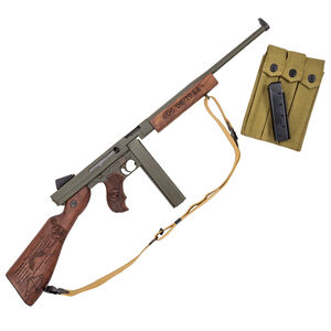 "Auto-Ordnance Thompson M1 Ranger ""1927-A1"" WWII .45 ACP Semi Auto Rifle 16.5"" Barrel 30/20 Rounds Blade Front Sight/Fixed Battle Rear Walnut Engraved Furniture"