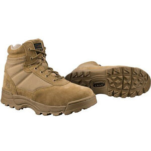 "Original S.W.A.T. Classic 6"" Side Zip Men's Boot Non-Marking Sole Leather/Nylon Size 10 Regular Coyote Tan"