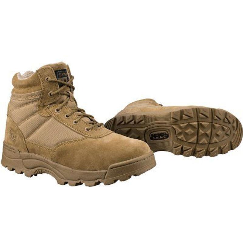 "Original S.W.A.T. Classic 6"" Side Zip Men's Boot Non-Marking Sole Leather/Nylon Size 6 Regular Coyote Tan"