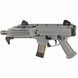 "CZ Scorpion EVO 3 S1 Pistol Semi Auto Pistol 9mm Luger 7.72"" Barrel 20 Rounds Low Profile Fully Adjustable Aperture/Post Fiber-Reinforced Polymer Frame Battleship Grey"