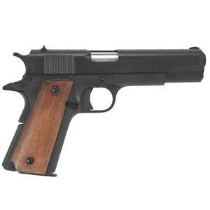 "Rock Island Armory 1911 Semi Auto Handgun 9mm Luger 5"" Barrel 9 Rounds Steel Parkerized Wood Grips"