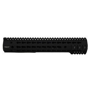 "Troy Industries SDMR Battlerail LR-308 High Profile Free Float Handguard 13"" Keymod Aluminum Black STRX-BK3-3HBT-00"