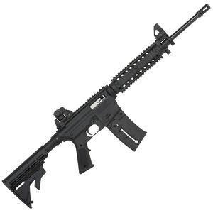 """Mossberg 715 Tactical Semi Auto Rifle .22 LR 16.25"""" Barrel 25 Rounds Flat Top Upper Quad Rail Adjustable Stock Black Finish 37209"""