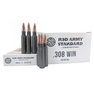 Red Army Standard .308 Winchester Ammunition 150 Grain Full Metal Jacket Steel Cased Bi-Metal Jacket