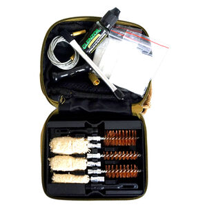Clenzoil Multi-Caliber 9 Piece Shotgun Cleaning Kit .410 Bore/16/12/20 Gauge Nylon Case Tan