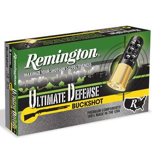 "Remington Ultimate Defense 12 Gauge Ammunition 5 Rounds 2-3/4"" Reduced Recoil #4 Buck 21 Pellets 12BRR4HD"