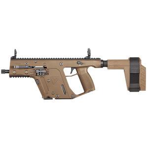 "Kriss USA Kriss Vector 22 SDP-SB .22 Long Rifle Semi Auto Pistol 6.5"" Barrel 10 Rounds Pistol Stabilizing Brace Flat Dark Earth"