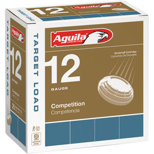 "Aguila Competition Target 12 Gauge Ammunition 25 Rounds 2-3/4"" #8 Lead 1oz 1275fps"