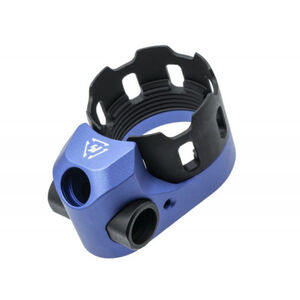 Strike Industries TRIBUS Enhanced Castle Nut & Extended End Plate Blue SI-AR-TRIBUS-BLU