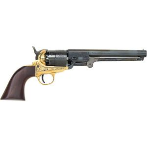 """Traditions 1851 Navy Revolver 44 Cal. 7.375"""" Engraved Blued"""