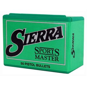 "Sierra 9mm Sports Master Bullets .355"" Diameter 90 Grain Jacketed Hollow Point 100 Pack S8100"