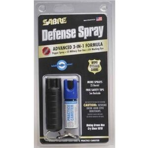 SABRE STUHC 14 Keyring Combo Self Defense Spray 0.54 Ounces Black