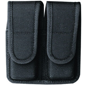"Bianchi Model 7302 AccuMold Double Magazine Pouch Glock 20/21/H&K USP 45 2.25"" Belt Loops Velcro Closure Black 18443"