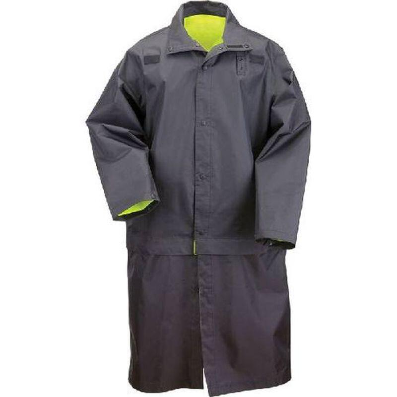 5.11 Tactical Long Reversible High Visibility Rain Coat Nylon Large Black 48125