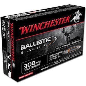 Winchester .308 Win 150 Grain Silvertip JHP 20 Round Box