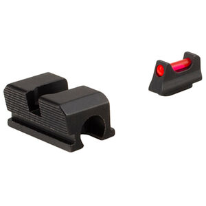 Trijicon Fiber Optic Sight Set Fits Walther P99/PPQ Red Fiber Front/Blacked Out Rear Steel Housing Matte Black Finish