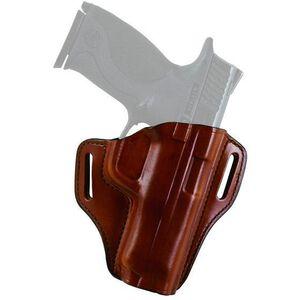 Bianchi Model 57 Remedy Semi Automatic Size 9, GLOCK 43 Belt Slide Holster Right Hand Leather Plain Tan