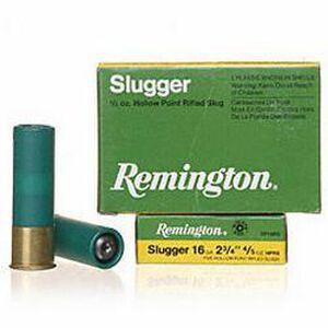 "Remington 16 Gauge Slugger Ammunition Five Rounds 4/5 Ounce Rifled Slug 2.75"""