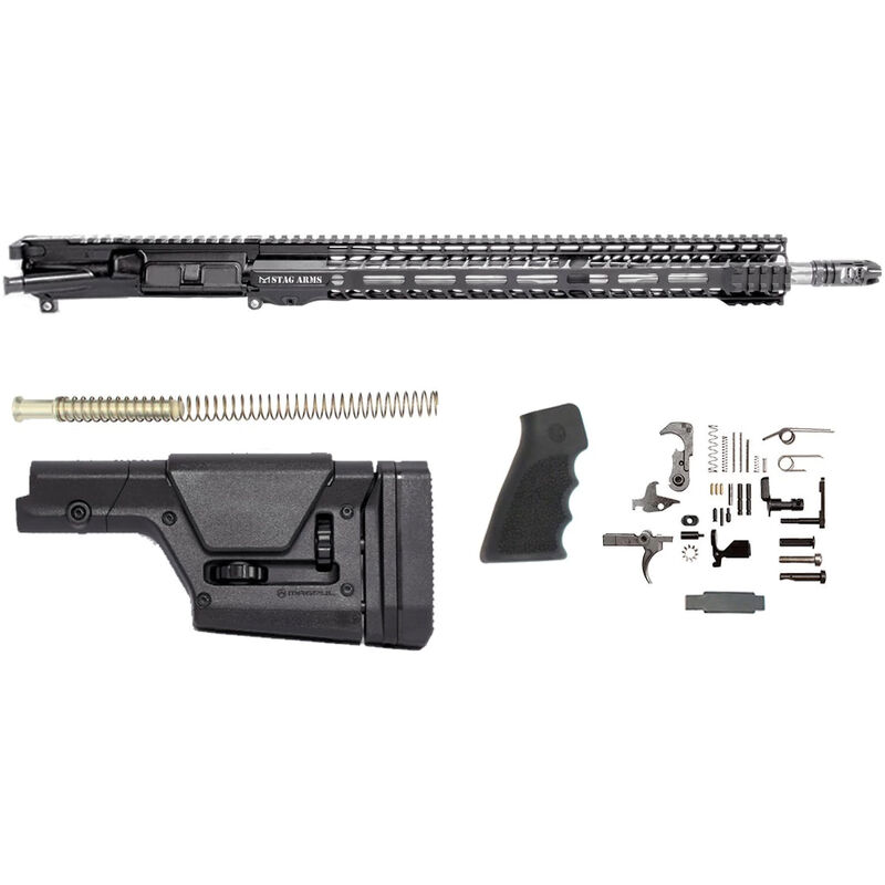"""Stag Arms Stag-15 Valkyrie Rifle Kit AR-15 Upper Receiver Assembly .224 Valkyrie 18"""" Fluted Stainless Steel Barrel 16.5"""" M-LOK SL Free Float Handguard Lower Parts Kit Magpul PRS Stock Black"""