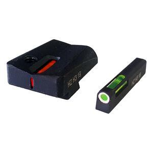 HiVis Litewave H3 Express Sights For Glock 9/40/.357 Tritium Fiber Optic Sights Green Front Orange Rear Steel Black