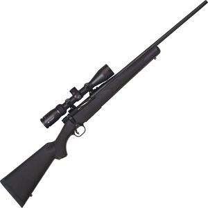"""Mossberg Patriot Synthetic Combo .22-250 Rem Bolt Action Rifle 22"""" Fluted Barrel 5 Rounds with Vortex Crossfire II 3-9x40mm Scope Black Synthetic Stock Matte Blued Finish"""