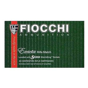 Fiocchi Exacta Rifle Match .30-06 Springfield Ammunition 20 Rounds 180 Grain Sierra Match King Hollow Point Boat Tail 2665fps