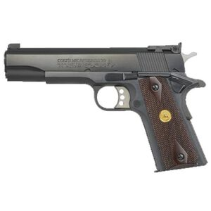 "Colt 1911 Gold Cup Series National Match Semi Auto Pistol 9mm Luger 5"" National Match Barrel 8 Round Magazine Colt Champion Bomar Sights Carbon Steel Slide/Frame Blued Finish"