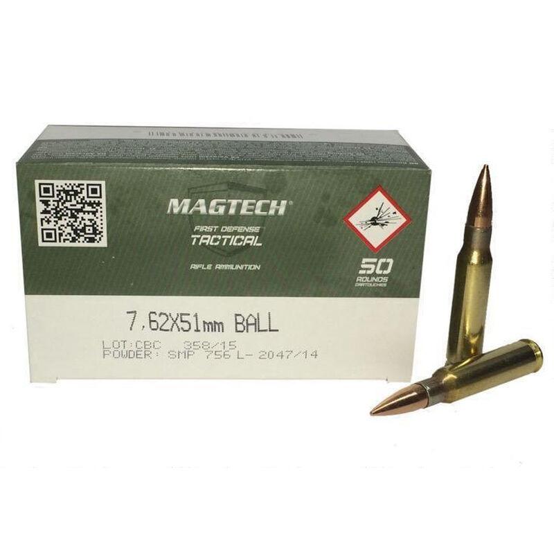 Magtech 7.62x51mm Ammunition 50 Rounds, FMJ, 147 Grains